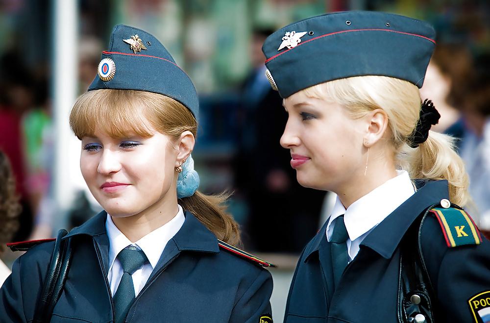 Eastern European police woman