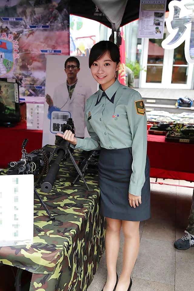 Hot Asian Military Females in Uniform