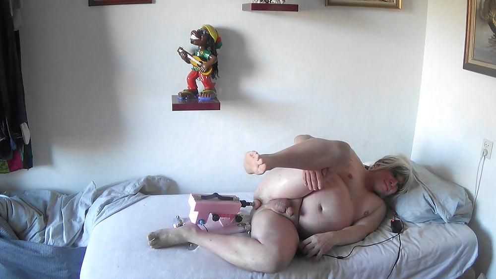 Naakt met Fuckmachine