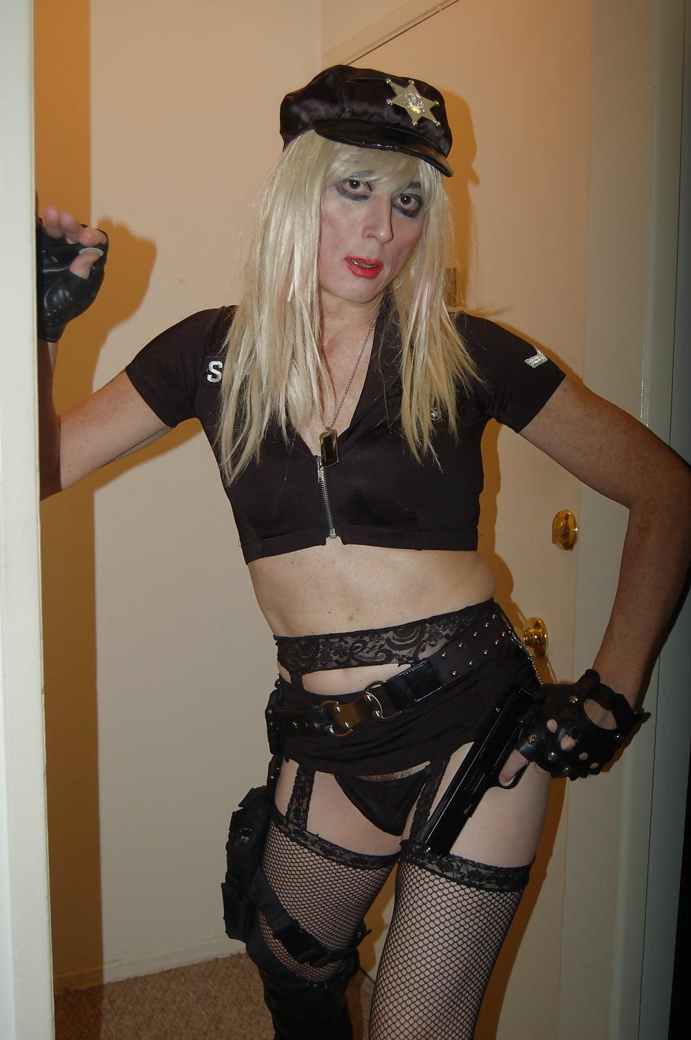 Police Woman Tasha Sexy Blond Crossdresser