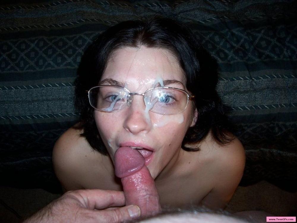 Cum on glasses
