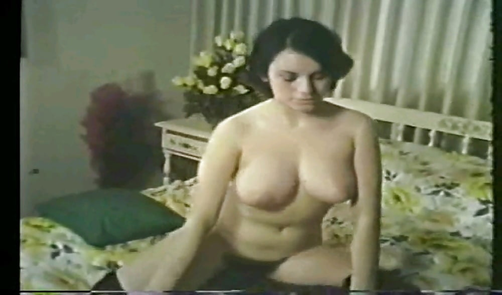 Lady naked on bed... Vintage.. Screen captions