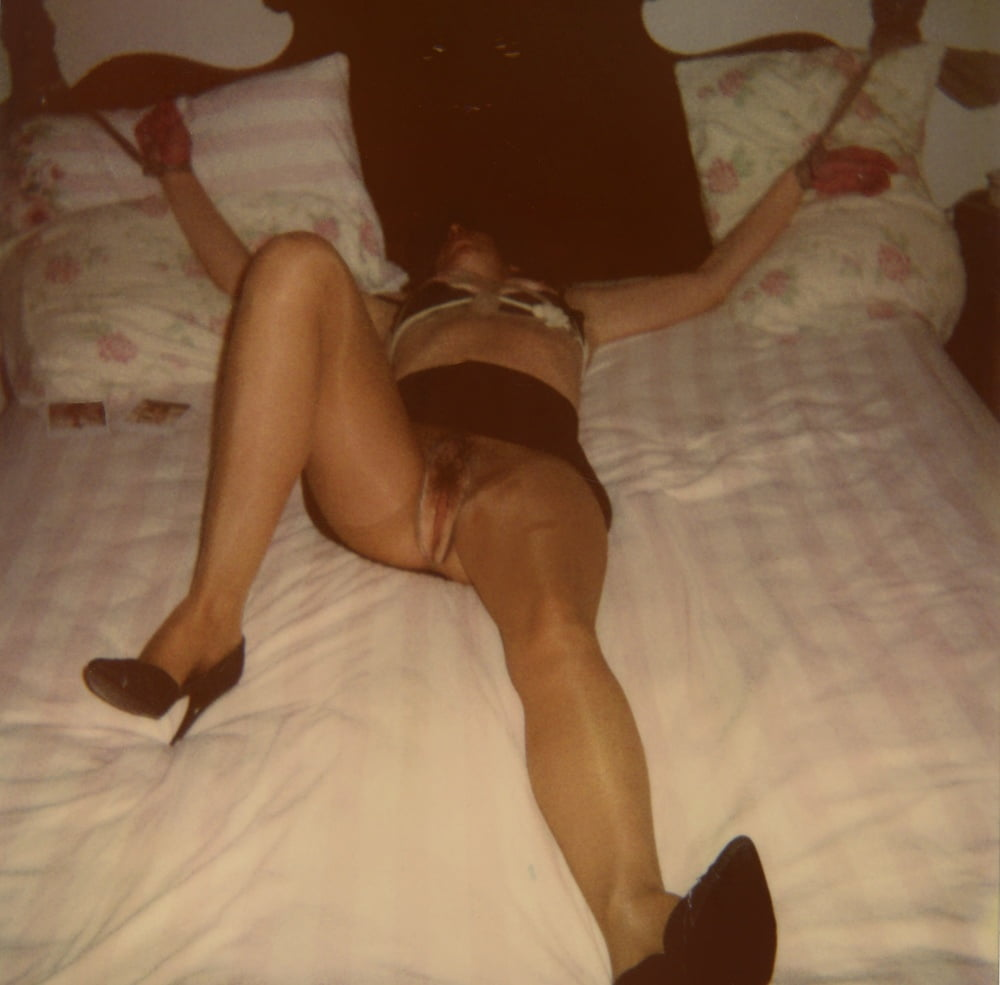 Lady T Bondage Tied to Bed