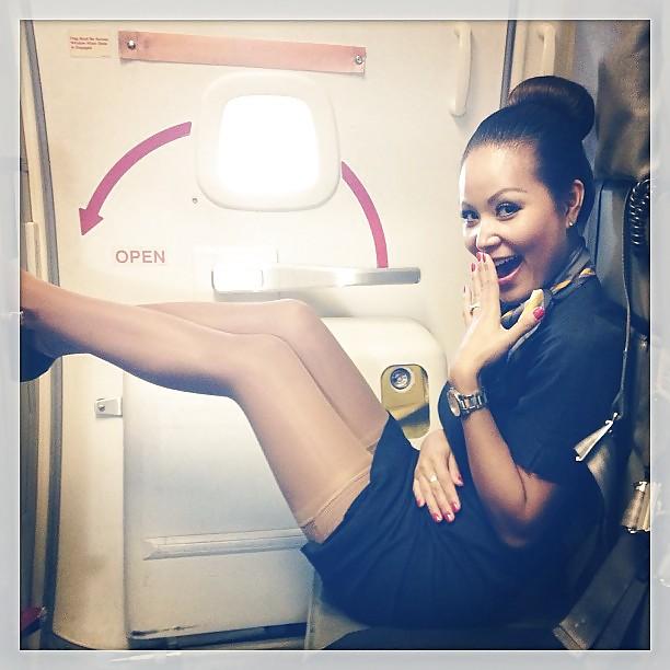 flight attendant and stewardess sexy