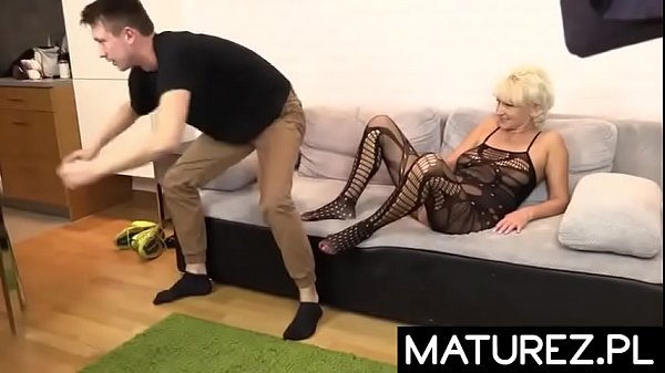 Mature busty mother likes to fuck with a male student