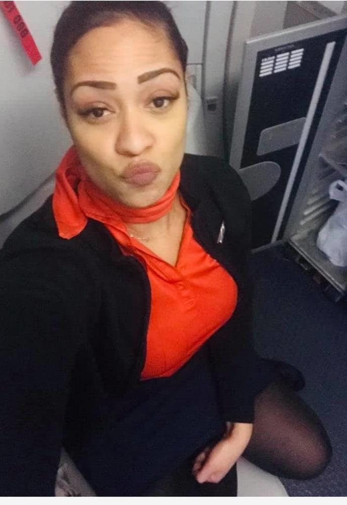 Renay sexy flight attendant